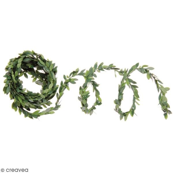 Mini guirlande de feuilles artificielles - Feuilles de buis - 3 m - Photo n°1