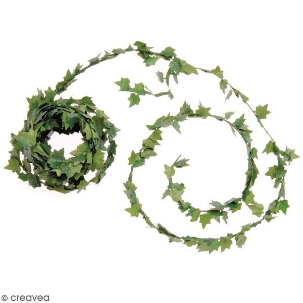 Mini guirlande de feuilles artificielles - Lierre - 3 m - Photo n°1