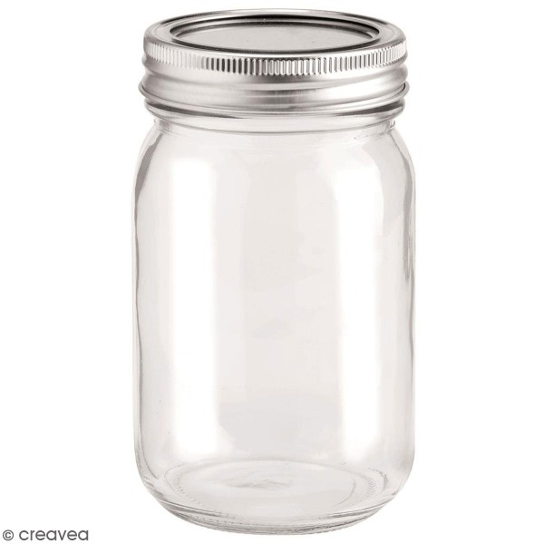 Bocal en verre avec couvercle - 420 ml - Photo n°1