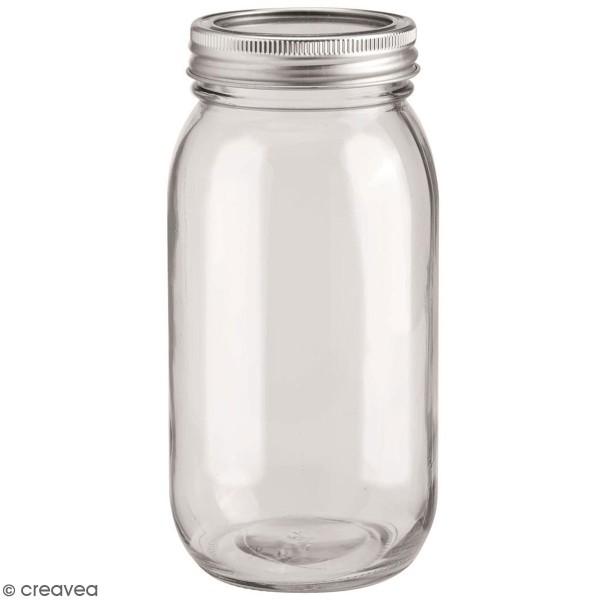 Bocal en verre avec couvercle - 650 ml - Photo n°1