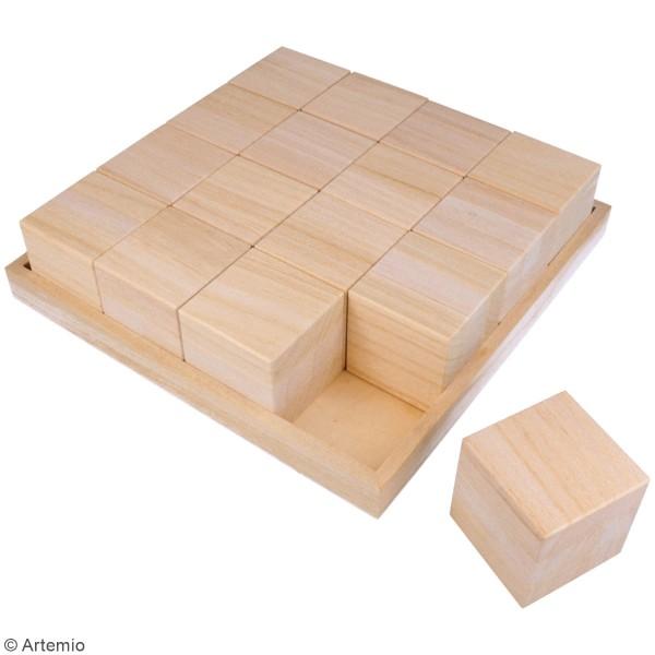 Cubes en bois à décorer - 6 x 6 x 6 cm - 16 pcs - Photo n°3