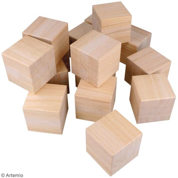 Cubes en bois à décorer - 6 x 6 x 6 cm - 16 pcs - Photo n°4