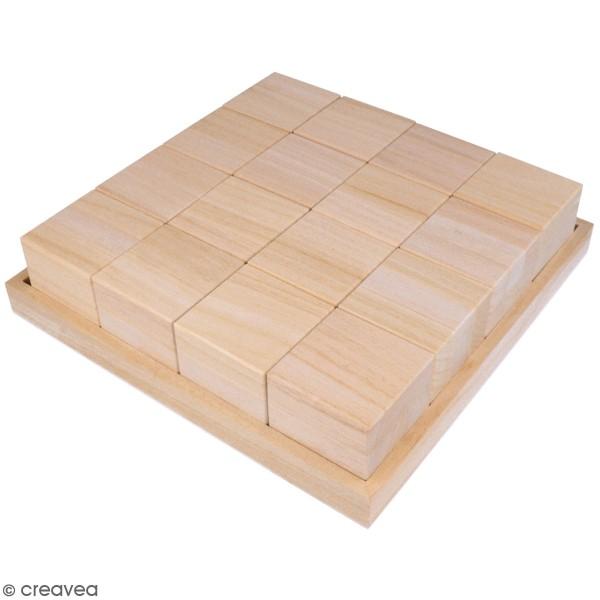 Cubes en bois à décorer - 6 x 6 x 6 cm - 16 pcs - Photo n°1