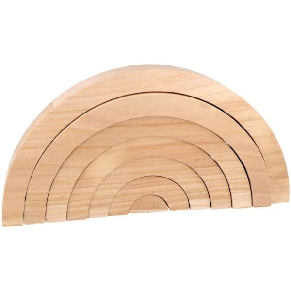 Arc-en-ciel en bois à décorer - 28 x 14 x 3 cm - Photo n°2