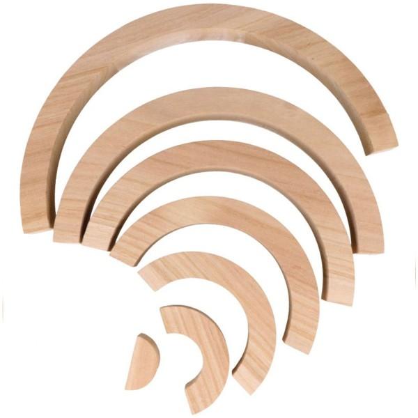Arc-en-ciel en bois à décorer - 28 x 14 x 3 cm - Photo n°3