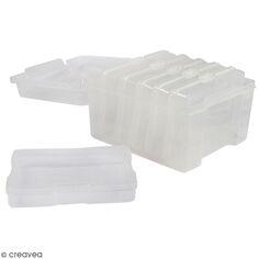 Boîte de rangement - 6 compartiments - 21 x 18,5 x 14 cm