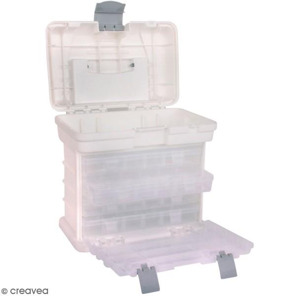 Boite de rangement portable - 5 compartiments - 27,5 x 17,5 x 26 cm - Photo n°1