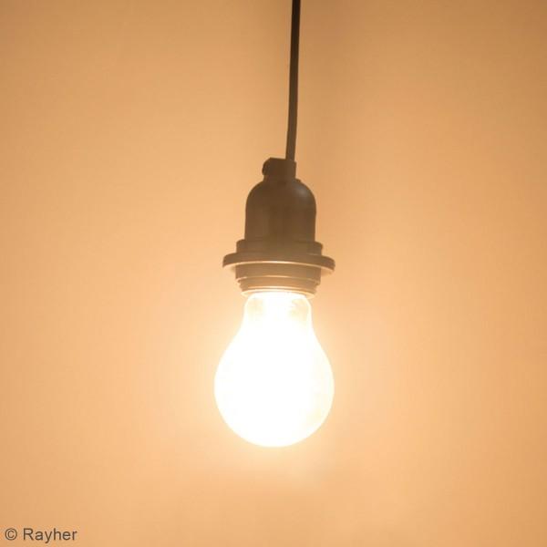 Câble électrique pour luminaire 180 cm - Douille E27 et interrupteur - Noir - Photo n°2