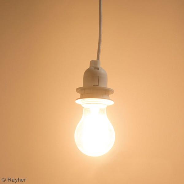 Câble électrique pour suspension 1 m - Douille ampoule E27 - Blanc - Photo n°2