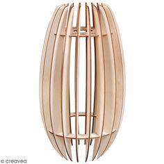 Kit abat jour lamelles en bois - modèle Helsinki - 20 x 35 cm