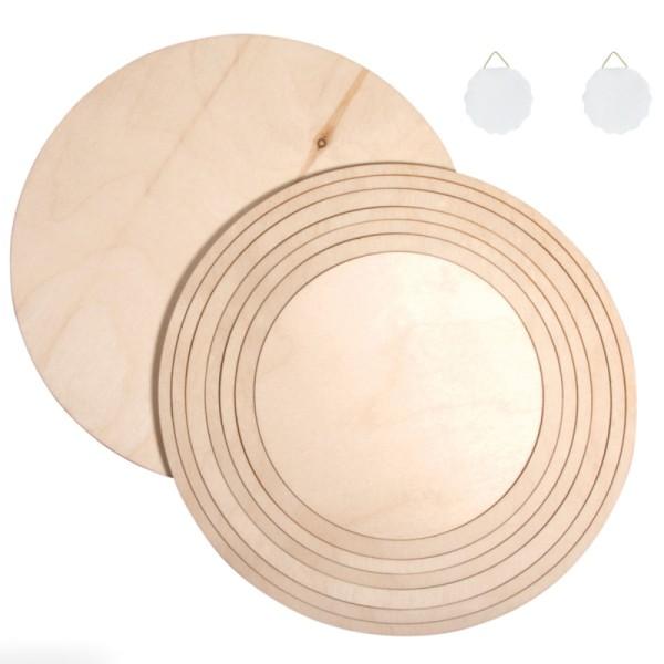 Set Cercles en bois - De 16,9 cm à 24,7 cm - 8 pcs - Photo n°2