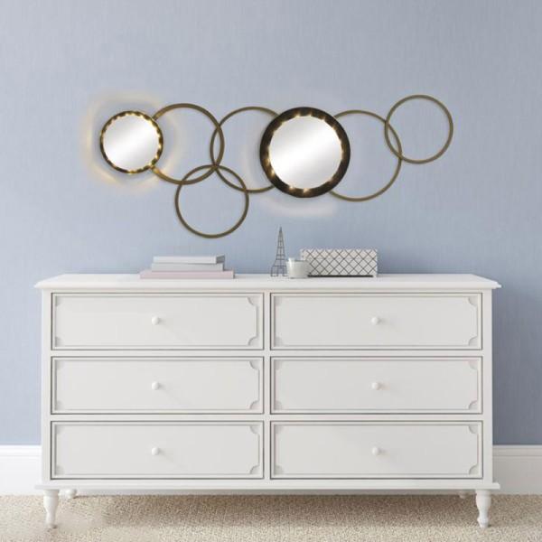 Set Cercles en bois - De 16,9 cm à 24,7 cm - 8 pcs - Photo n°3
