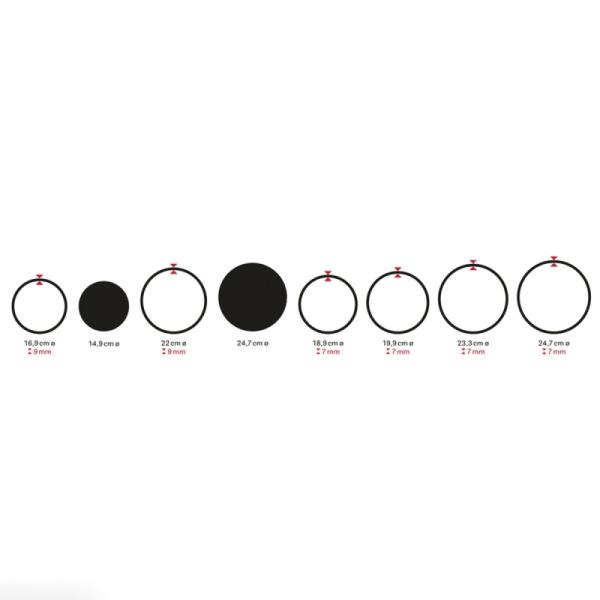 Set Cercles en bois - De 16,9 cm à 24,7 cm - 8 pcs - Photo n°5