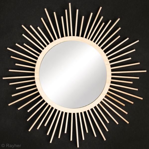Kit miroir en bois - soleil - 32 cm - Photo n°4
