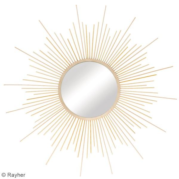 Kit miroir en bois - soleil - 63 cm - Photo n°2