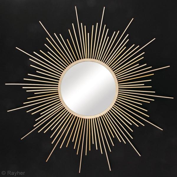 Kit miroir en bois - soleil - 63 cm - Photo n°4