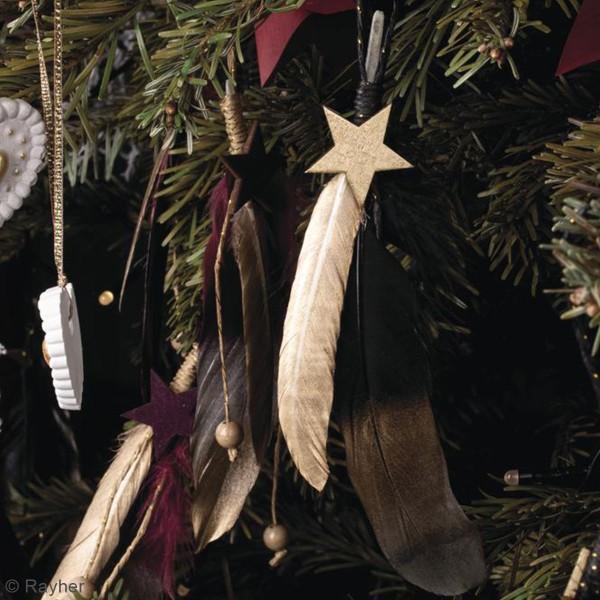 Plumes décoratives - Noir - 3 pcs - Photo n°4