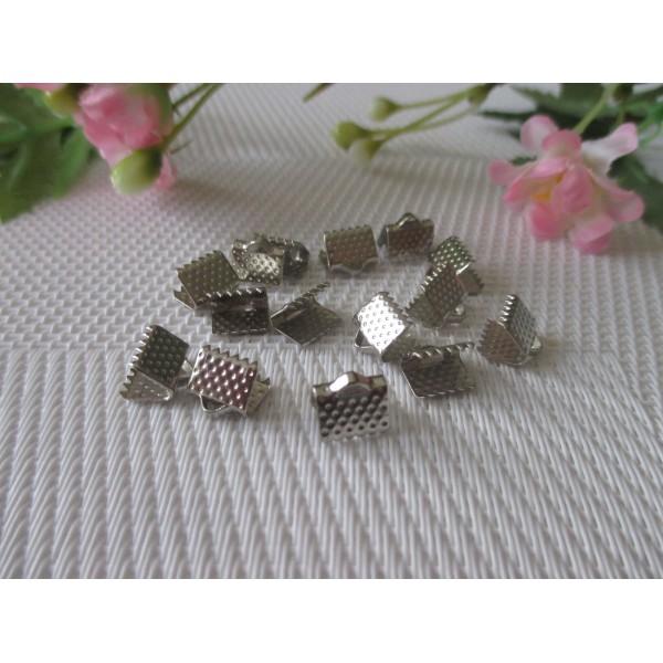 Embouts ruban à griffe 8 mm argent mat x 20 - Photo n°2