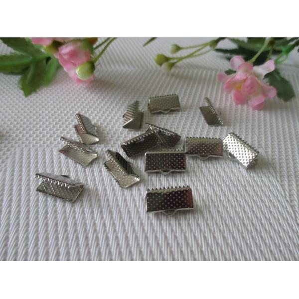Embouts ruban à griffe 13 mm argent mat x 20 - Photo n°2