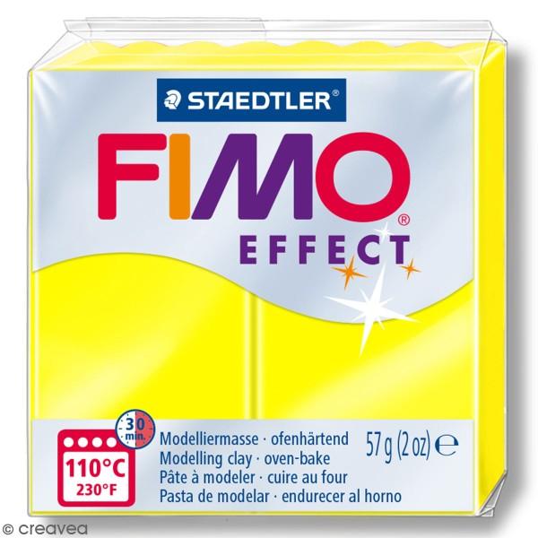 Pâte Fimo effect Néon Jaune 101 - 57 gr - Photo n°1