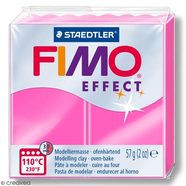 Pâte Fimo effect Néon Fuchsia 201 - 57 gr - Photo n°1