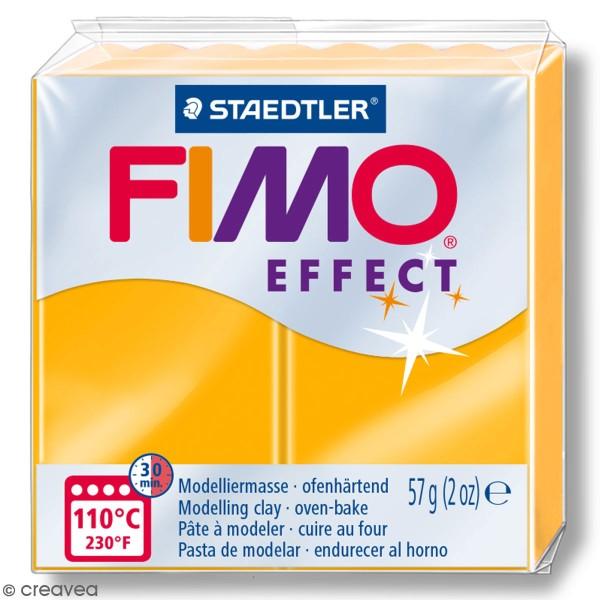 Pâte Fimo effect Néon Orange 401 - 57 gr - Photo n°1