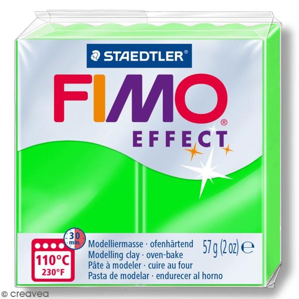 Pâte Fimo effect Néon Vert 501 - 57 gr - Photo n°1