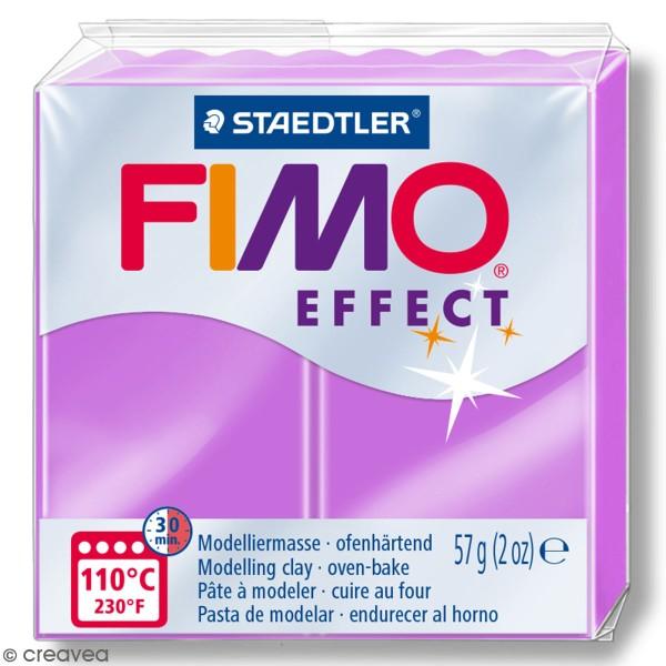 Pâte Fimo effect Néon Violet 601 - 57 gr - Photo n°1