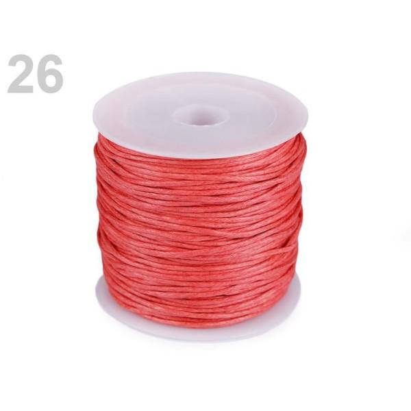 1pc Corail Rouge en Coton Ciré Ø0.8mm, des ficelles, des Cordes Et des Chaînes, Mercerie - Photo n°1