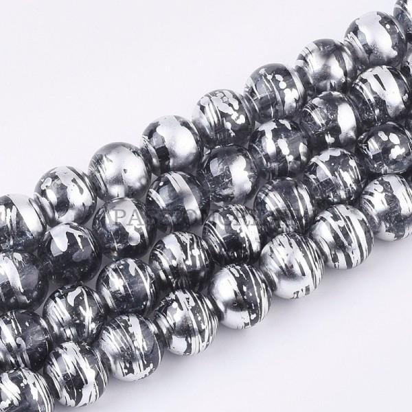 Cylinder 50 x WOODEN TUBE Beads ~ 7x4mm ~ BLACK ~ Tube Wood