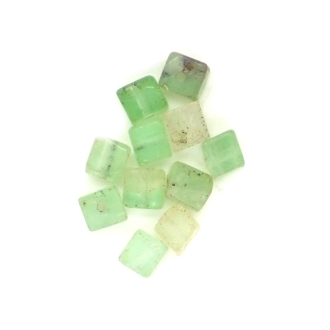 10 x Perle Carrée Naturelle En Fluorite