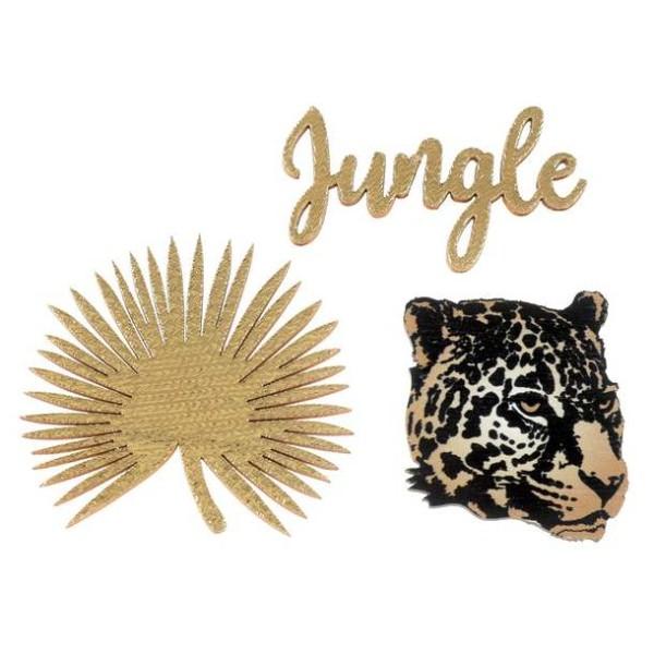 Confettis Jungle léopard adhésifs - Photo n°1