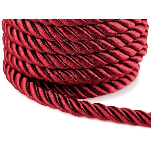 10m Rouge Foncé corde / Corde de Ø10mm, Cordon de Soutache, Cordon Macrame, Cordon de la Décoration, - Photo n°1