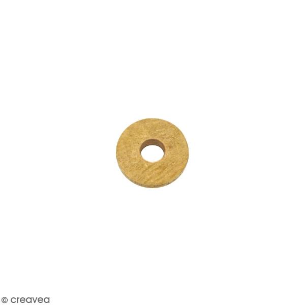 Perle rondelle en métal - doré - 6 x 1 mm - Photo n°1