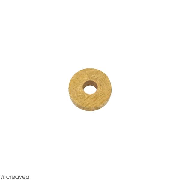 Perle rondelle en métal - Doré - 6 x 2 mm - Photo n°1