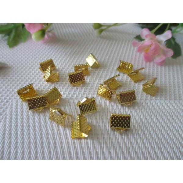 Embouts ruban à griffes 8 mm doré x 50 - Photo n°2
