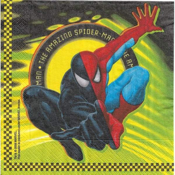 4 Serviettes en papier Spiderman Format Lunch Decoupage Decopatch 551261 Riethmüller - Photo n°2