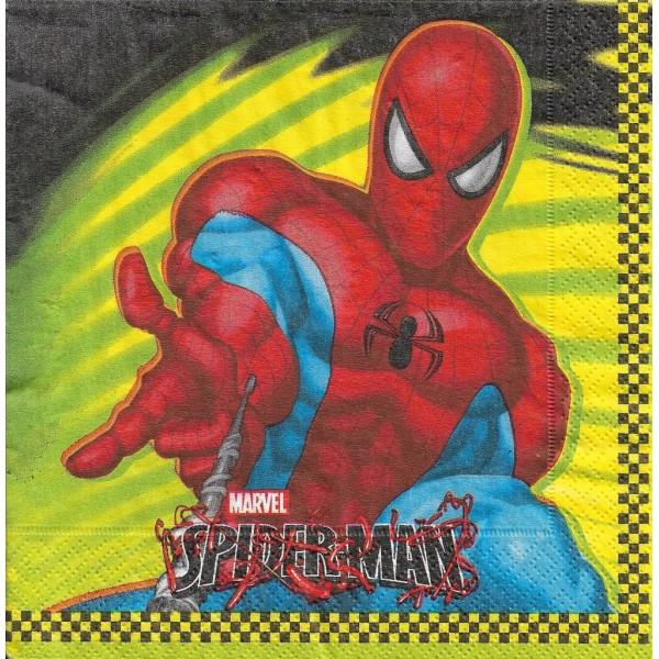 4 Serviettes en papier Spiderman Format Lunch Decoupage Decopatch 551261 Riethmüller - Photo n°1