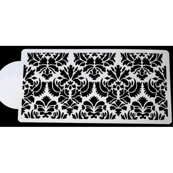 POCHOIR PLASTIQUE 22*11cm : bordure motif dentelle - Photo n°1
