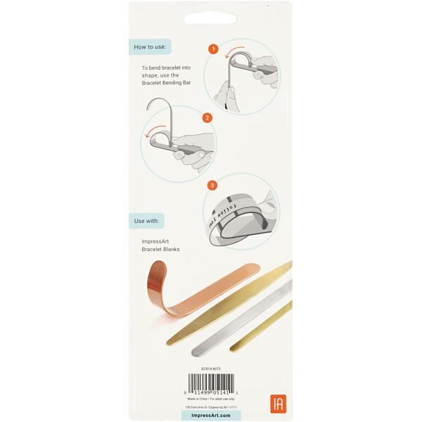 Kit ImpressArt pour plier les bracelet - 9 pcs - Photo n°3