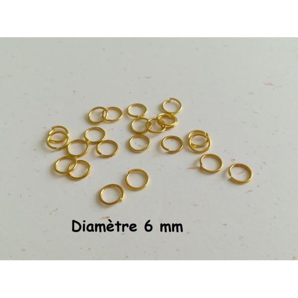 300 anneaux double 6mm Doré