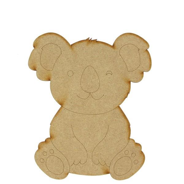 Grand Koala en bois - 15 cm - Photo n°1