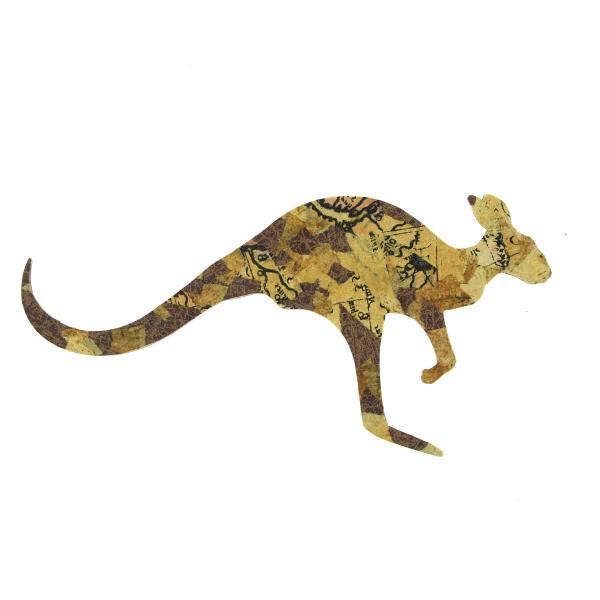 Grand Kangourou en bois - 21 x 9 cm - Photo n°2