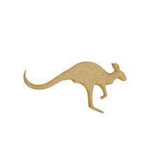 Petit Kangourou en bois - 11 x 5 cm