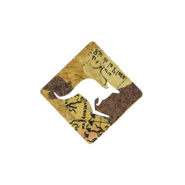 Panneau Kangourou en bois - 7 cm - Photo n°2