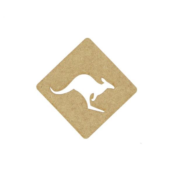 Panneau Kangourou en bois - 7 cm - Photo n°1