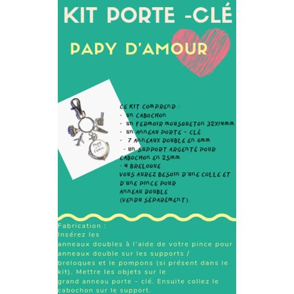 Un Kit Porte - Clé Papy D'Amour - Photo n°1