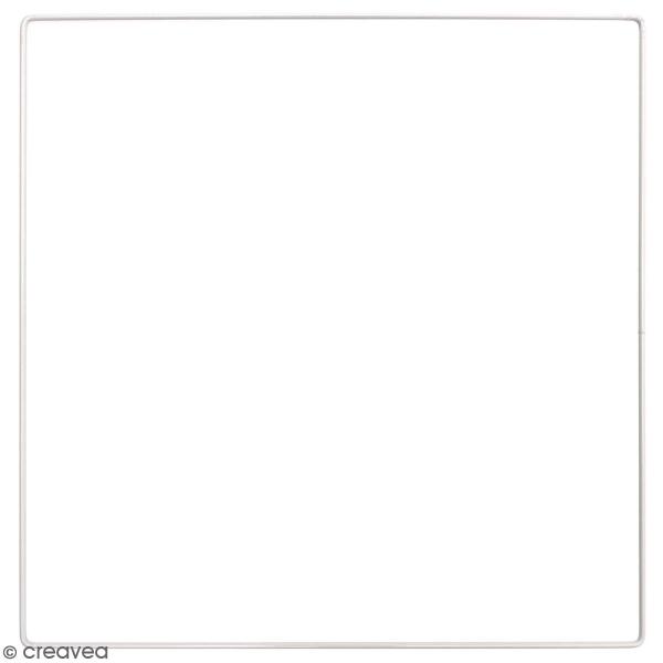 Anneau en métal carré - blanc - 30 cm - Photo n°1