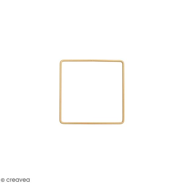 Anneau en métal carré - doré - 10 cm - Photo n°1