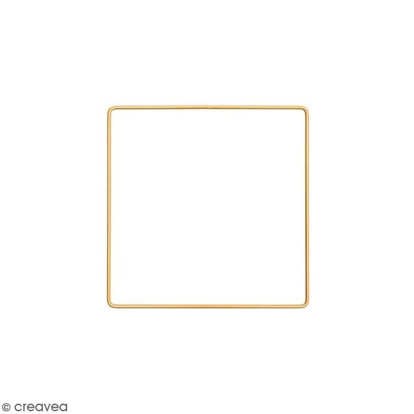 Anneau en métal carré - doré - 15 cm - Photo n°1